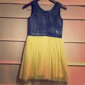 Adorable Guess Jean Yellow Tutu Dress